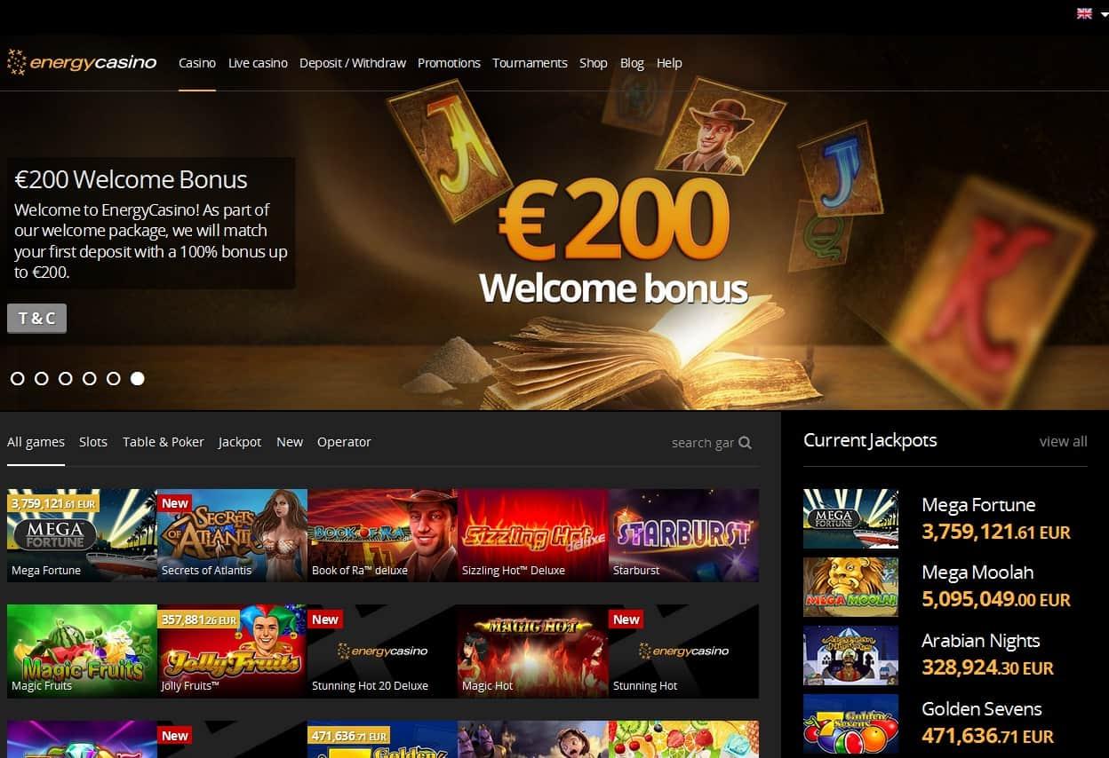 официальный сайт казино энерджи онлайн
