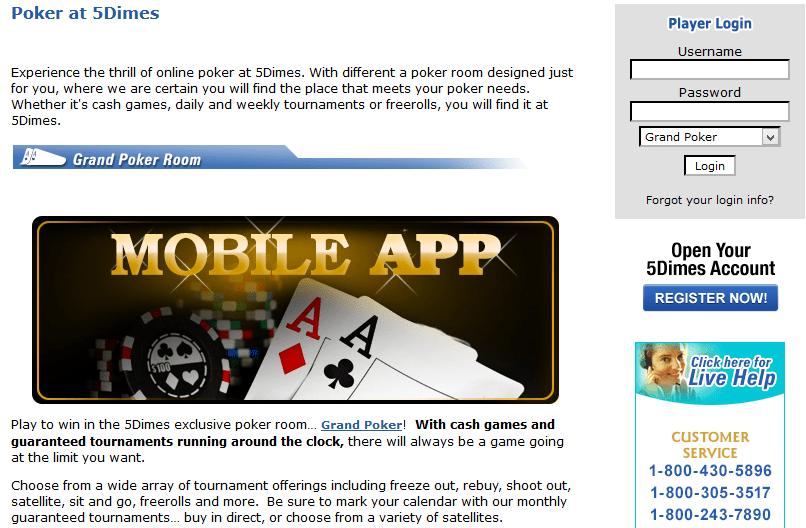 5dimes poker room review download blackjack 21 apk