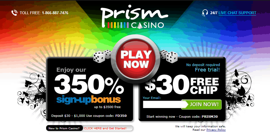no deposit bonus codes for prism casino 2019