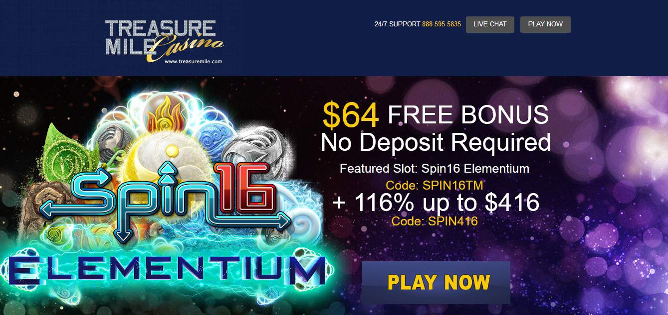 treasure mile casino no deposit bonus 2019