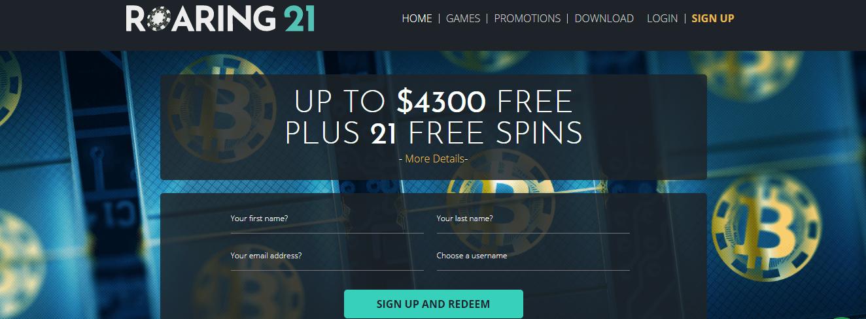 Roaring 21 No Deposit Bonus