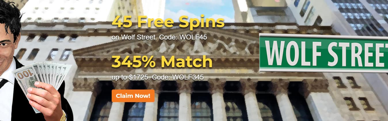 Claim Now 45 Free Spins on Wolf Street at Lotus Asia Casino