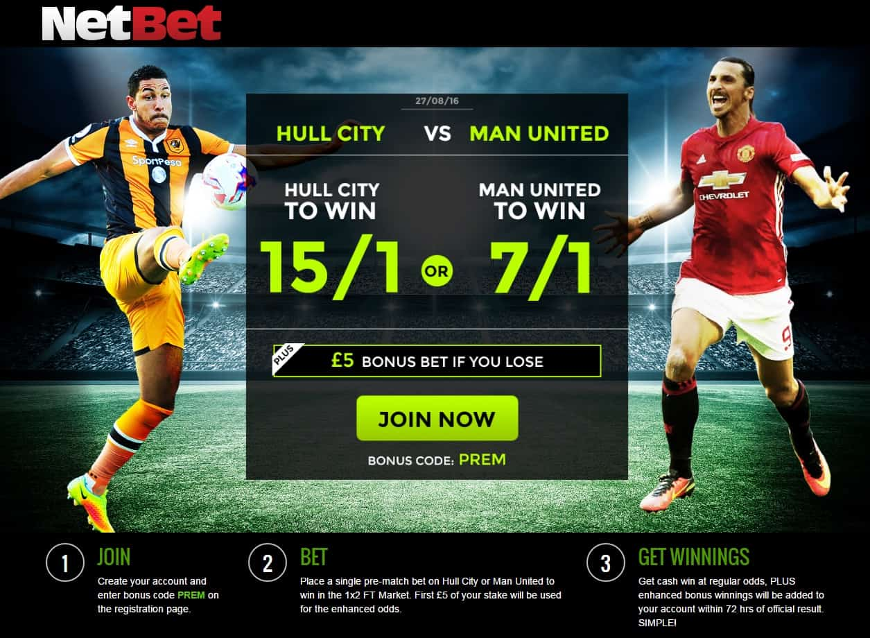 Photo of Hull 15/1 or Man. United 7/1