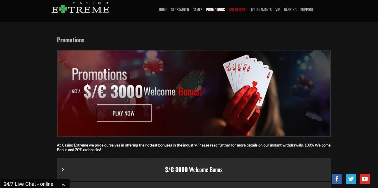 bonus codes for casino extreme