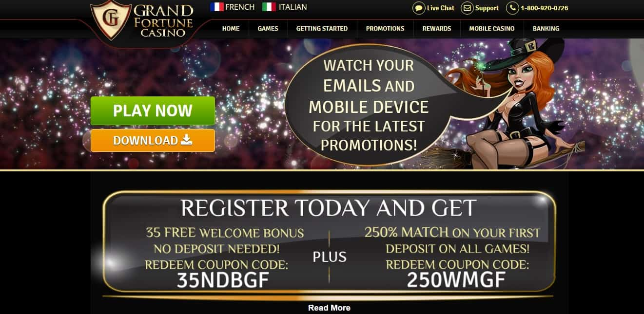 grand fortune casino sign up bonus