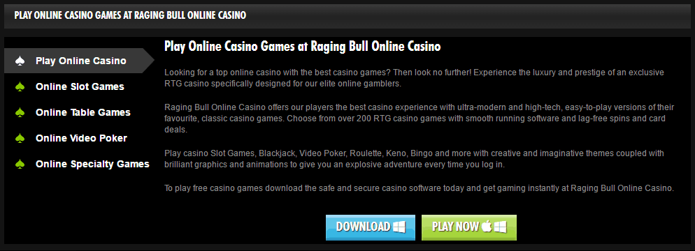 bonus codes 2019 raging bull casino