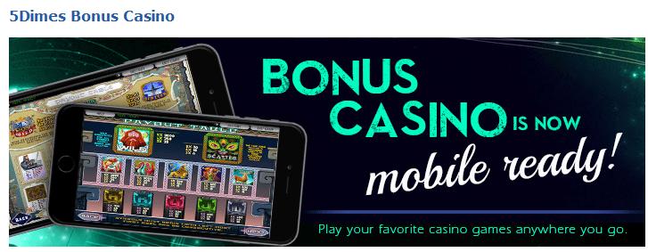 5Dimes Casino Welcome Bonus