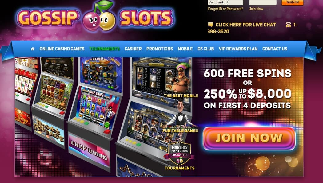 Gossip Slots Casino Online Review With Promotions & Bonuses