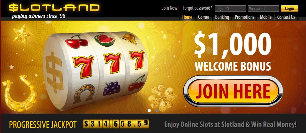 slotland mobile casino no deposit bonus