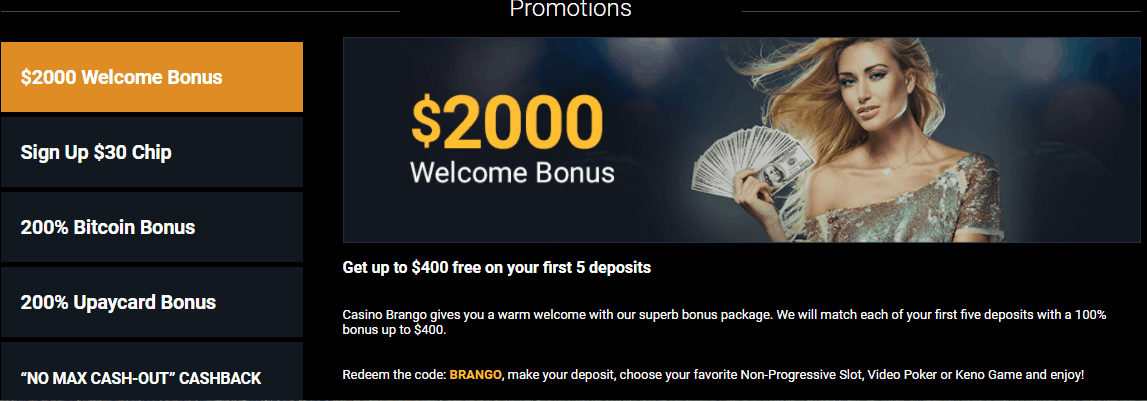 no deposit bonus codes for casino brango