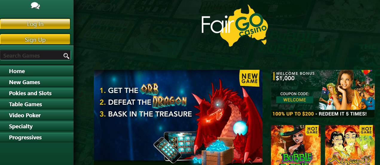 fair go casino bonus codes