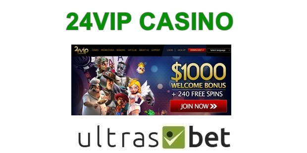 24VIP Casino Welcome page