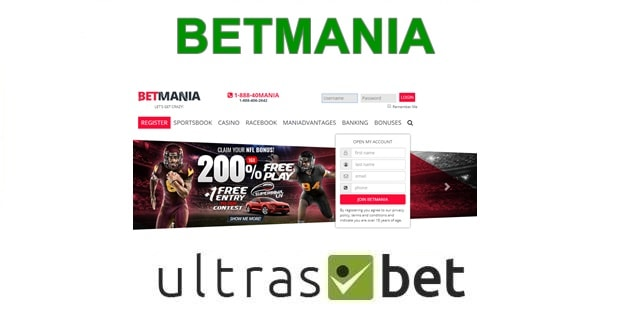 BetMania Welcome page