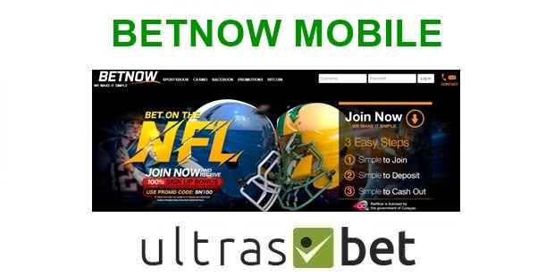 BetNow Mobile Welcome page