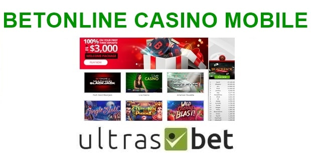 BetOnline Casino Mobile Welcome page