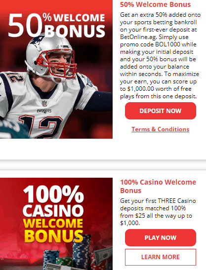 BetOnline Welcome Bonuses