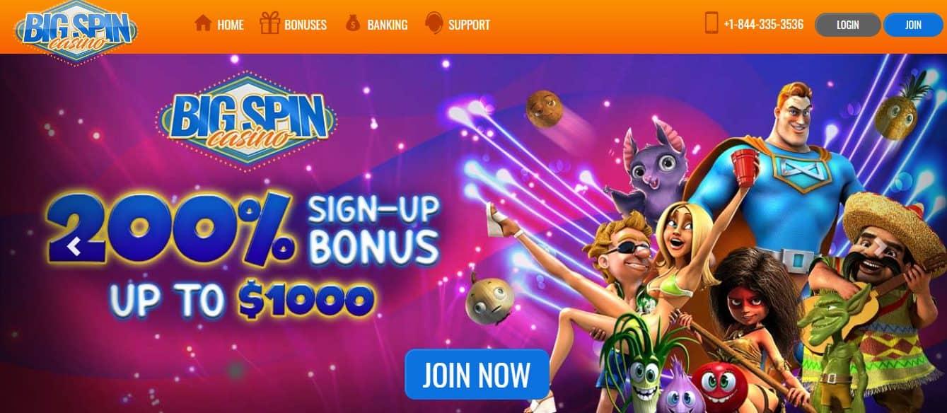 Big spin no deposit bonus