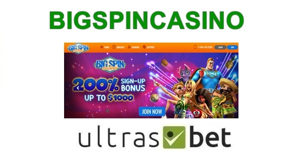 BigSpinCasino Welcome page
