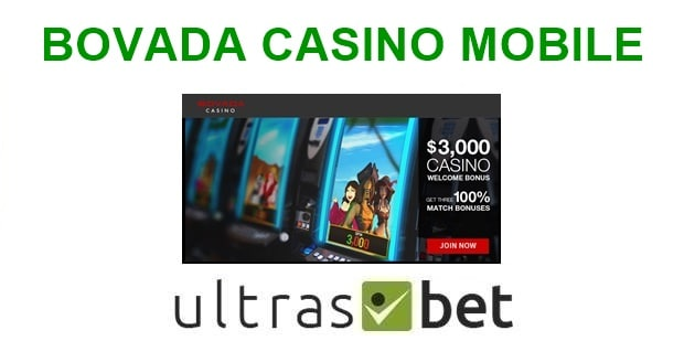 Bovada Casino Mobile Welcome page