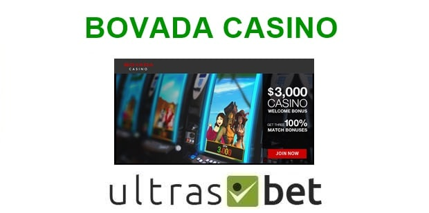 Bovada Casino Welcome page