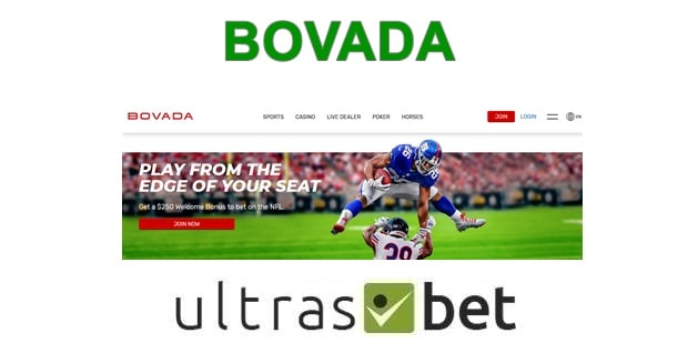 Bovada Welcome page