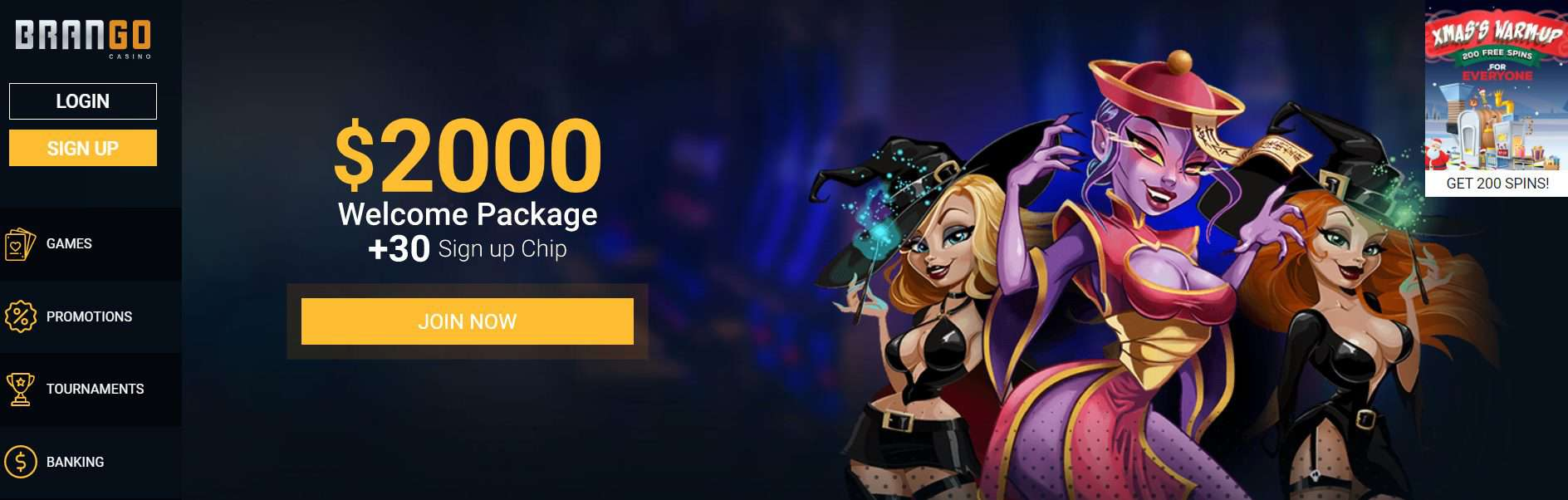 Casino Brango Homepage