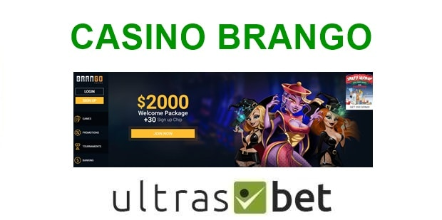 Casino Brango Welcome page