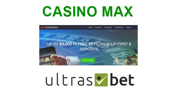 Casino Max Welcome page