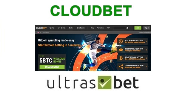 CloudBet Welcome page