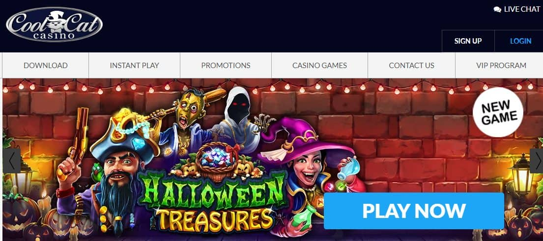 CoolCat Casino Homepage