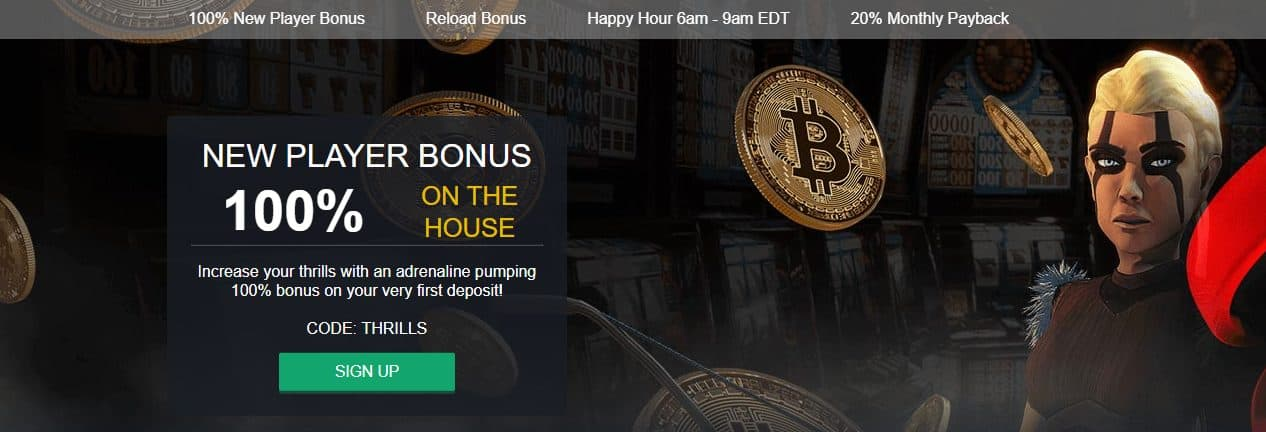 Crypto Thrills Welcome Bonus