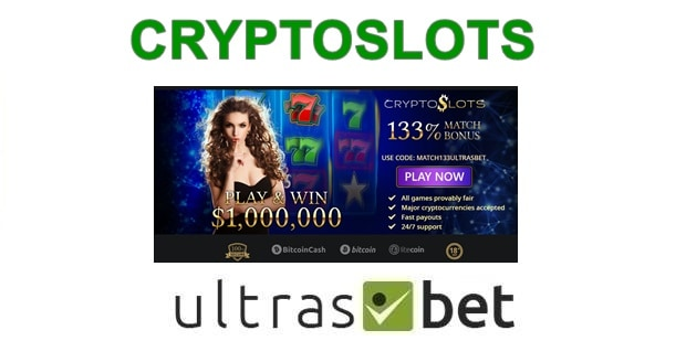 CryptoSlots Welcome page