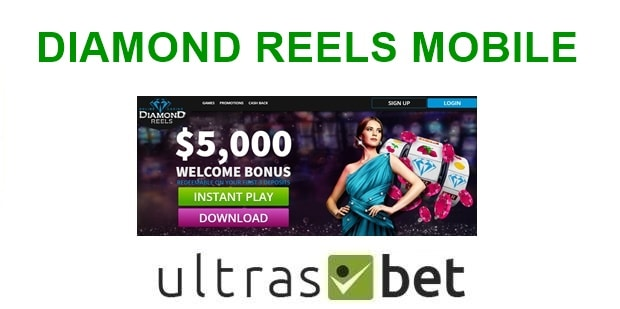 Diamond Reels Mobile Welcome page