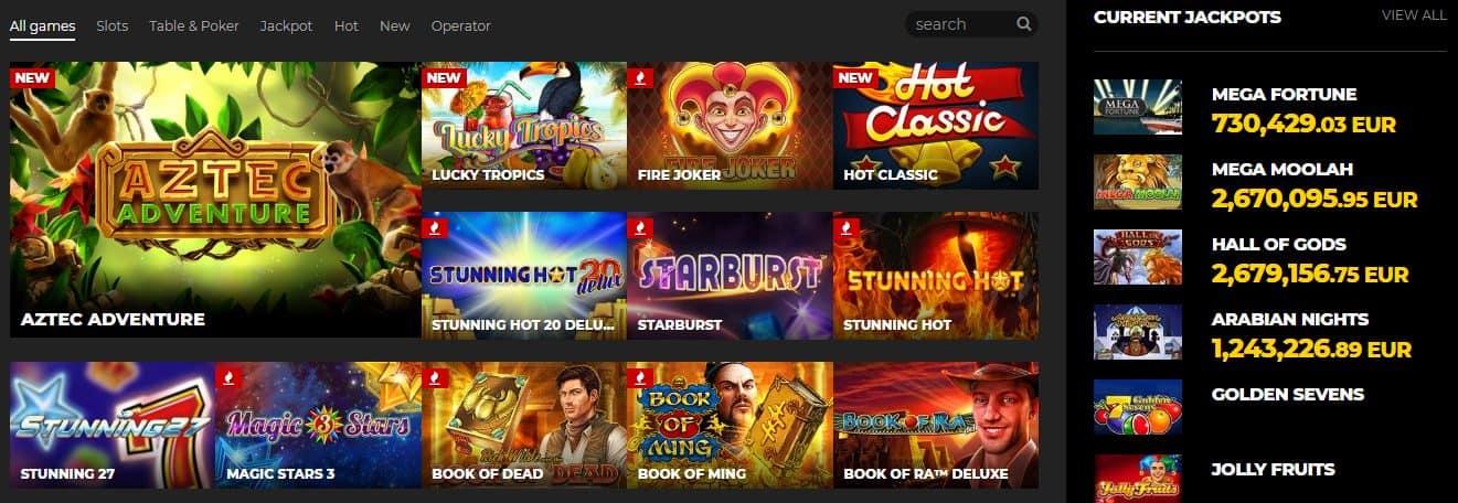 Energy Casino Games