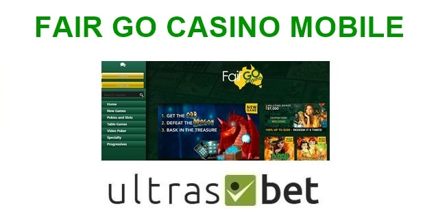 Fair Go Casino Mobile Welcome page
