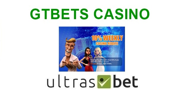 GTBets Casino Welcome page