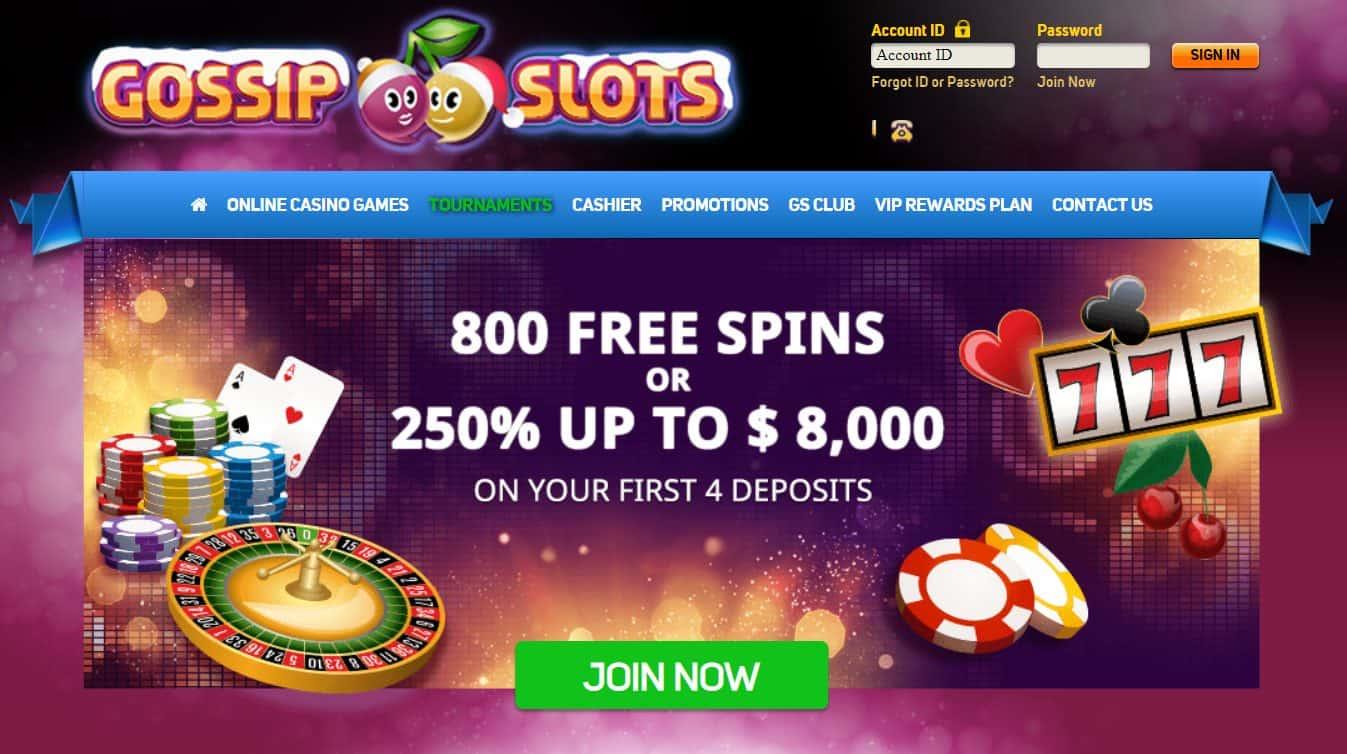 Gossip Slots Homepage