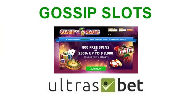 Gossip Slots Welcome page