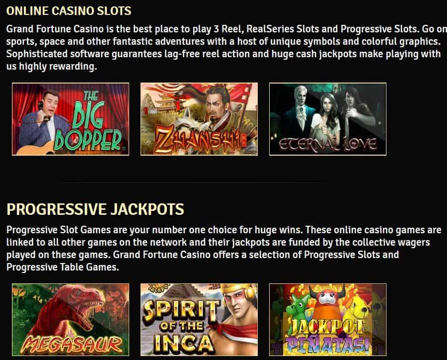 Grand Fortune Casino Games