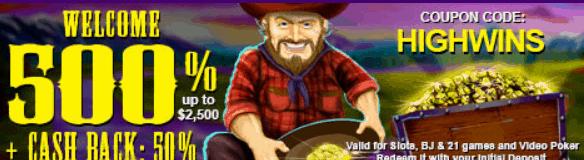High Country Casino Welcome Bonus