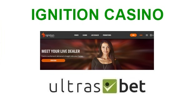 Ignition Casino Welcome page