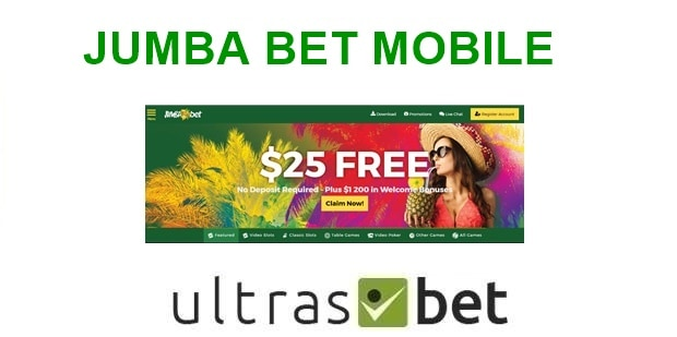 Jumba Bet Mobile Welcome page