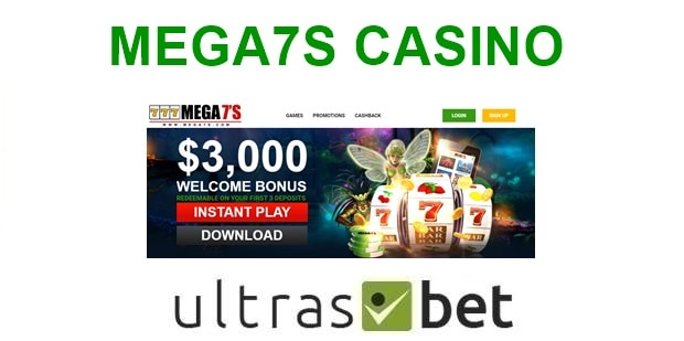 Mega7s Casino Welcome page