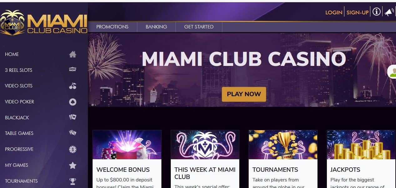 Miami Club Homepage