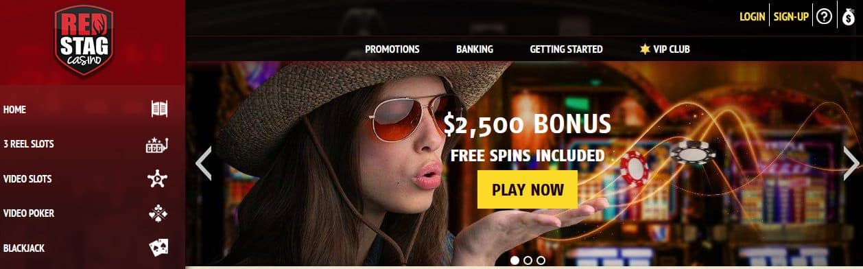 Red Stag Casino Homepage