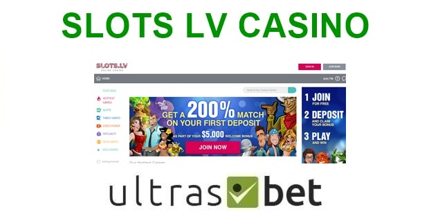 Slots LV Welcome page