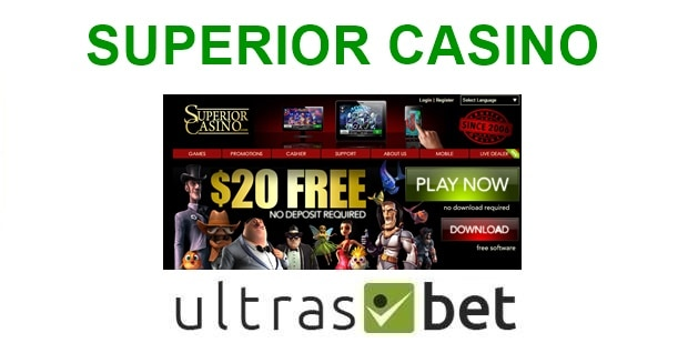 Superior Casino Welcome page