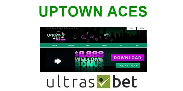 UpTown Aces Welcome page
