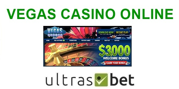 Vegas Casino Online Welcome page
