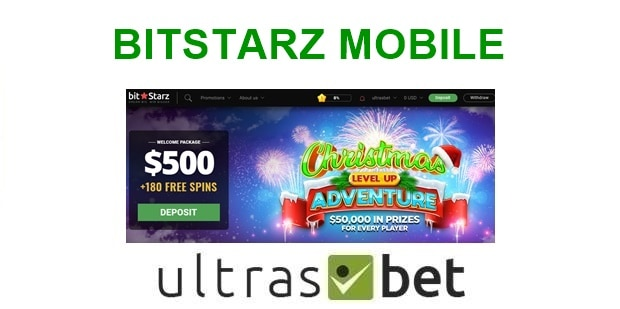 bItStarz Mobile Welcome page